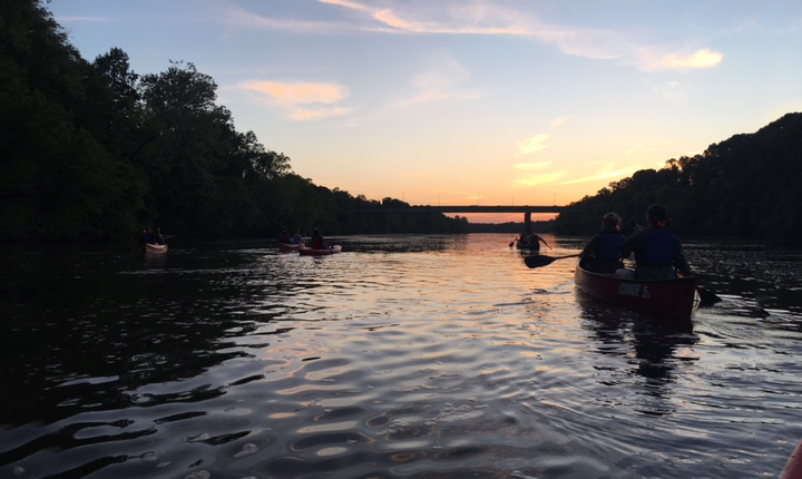Sunset during the Recovery Adventures moonlight paddle