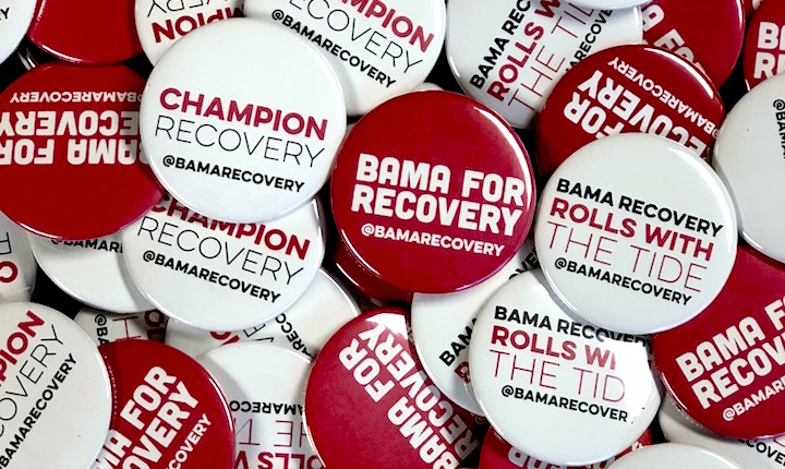 Bama for Recovery buttons