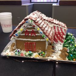 Gingerbread House competition, our entry was the local AA clubhouse